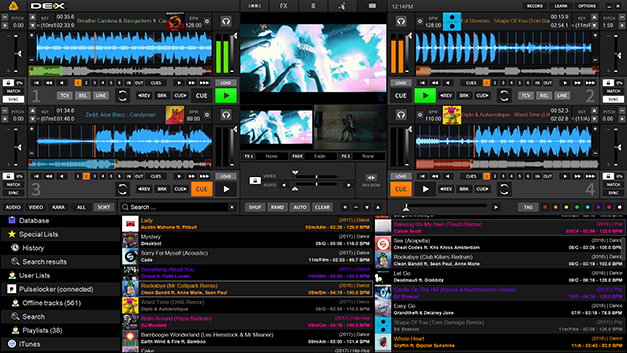 DEX 3 Pro DJ software and video mixing software