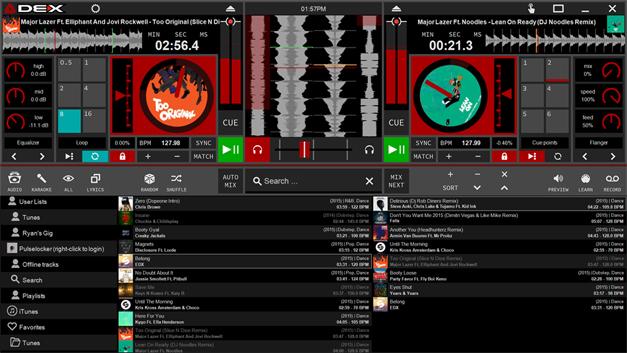 DEX 3 RE DJ mixing software screen shot