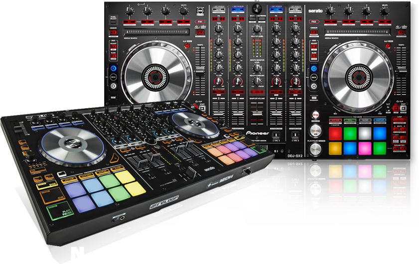 Pioneer, Numark and Reloop DJ Controllers