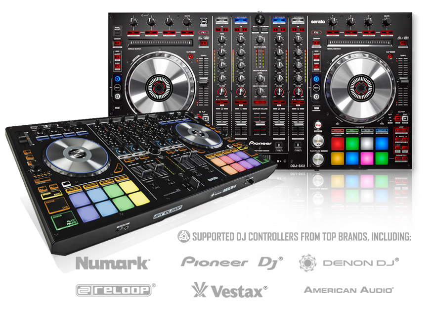 PCDJ Supported DJ Controllers From Numark, Pioneer, Denon DJ, Reloop and More