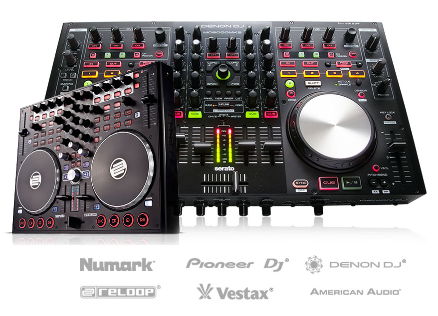 DJ Controllers from Numark, Denon DJ, Pioneer DJ and more