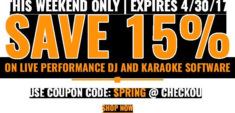 Save 15% on DJ Software and Karaoke Software