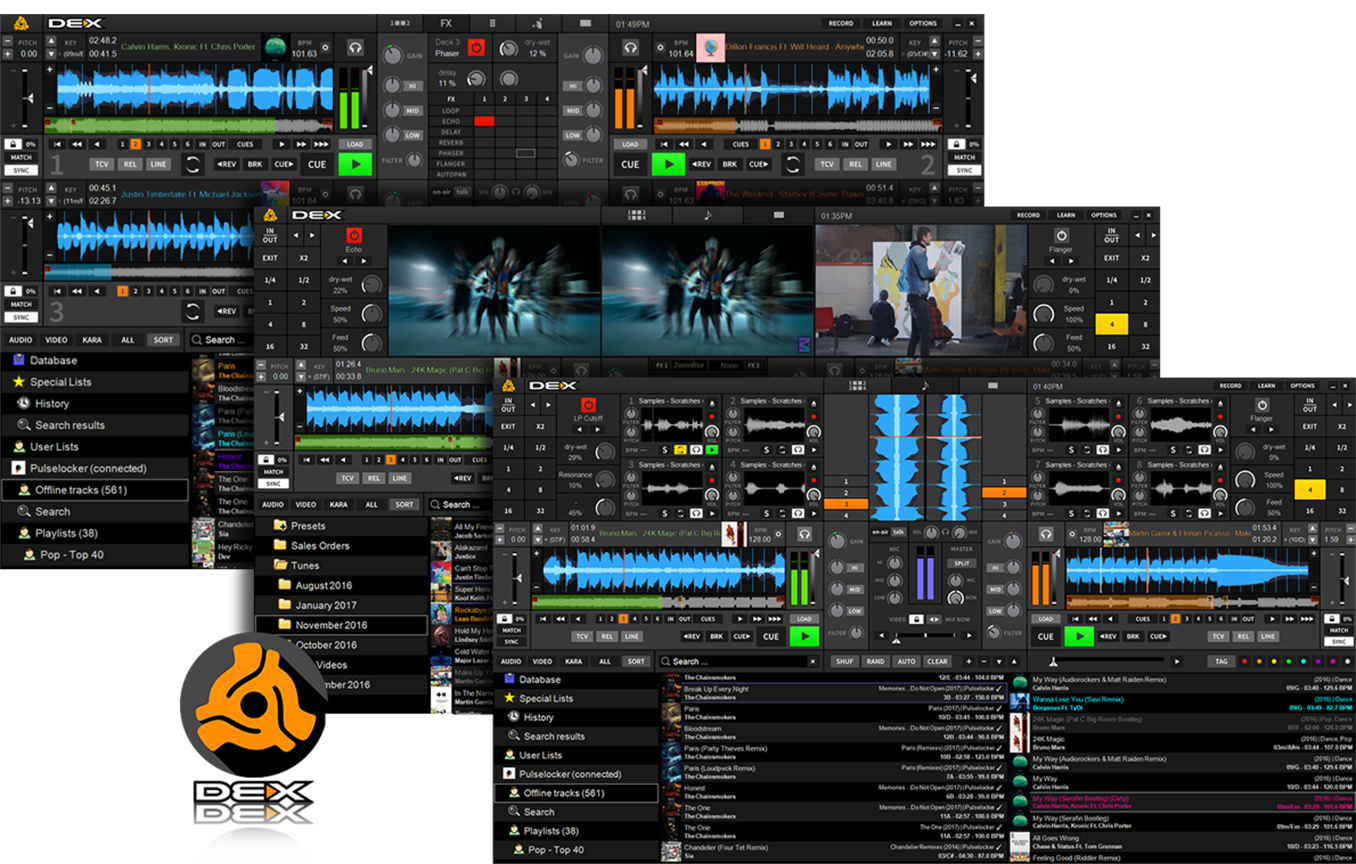 DEX 3 Mixing software with many skins