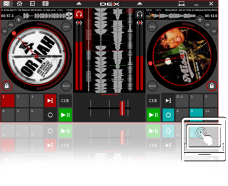 DEX 3 RE Tablet Mode DJ Software
