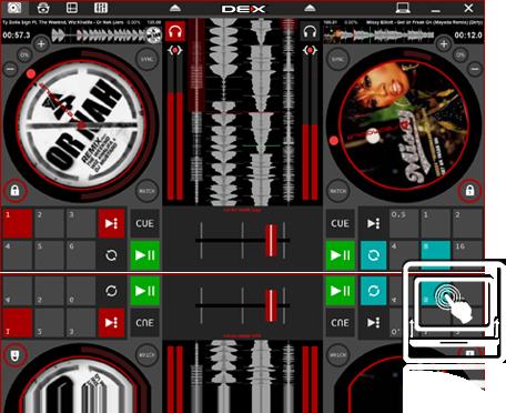 DEX 3 RE Tablet Mode DJ Software