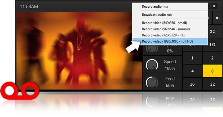 Record Video Mix with DEX 3 VJ Software