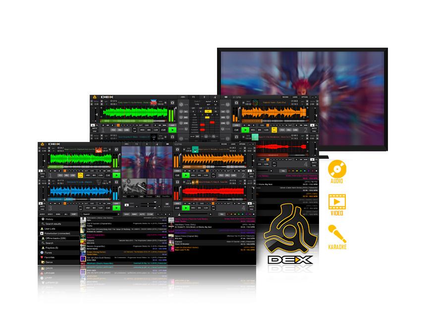 DEX 3 Mixing Software - audio - video - karaoke