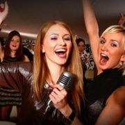 Girls Singing with Karaoke Cloud Pro