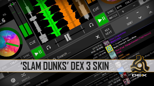 Slam Dunks DJ Software Skin For DEX 3