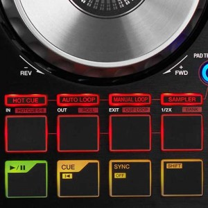 Pioneer DJ controller performance pads
