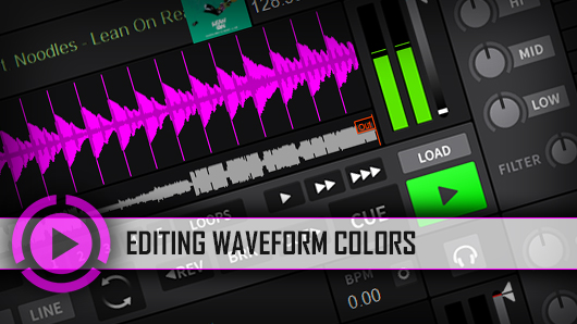 Editing Waveform colors in DJ software
