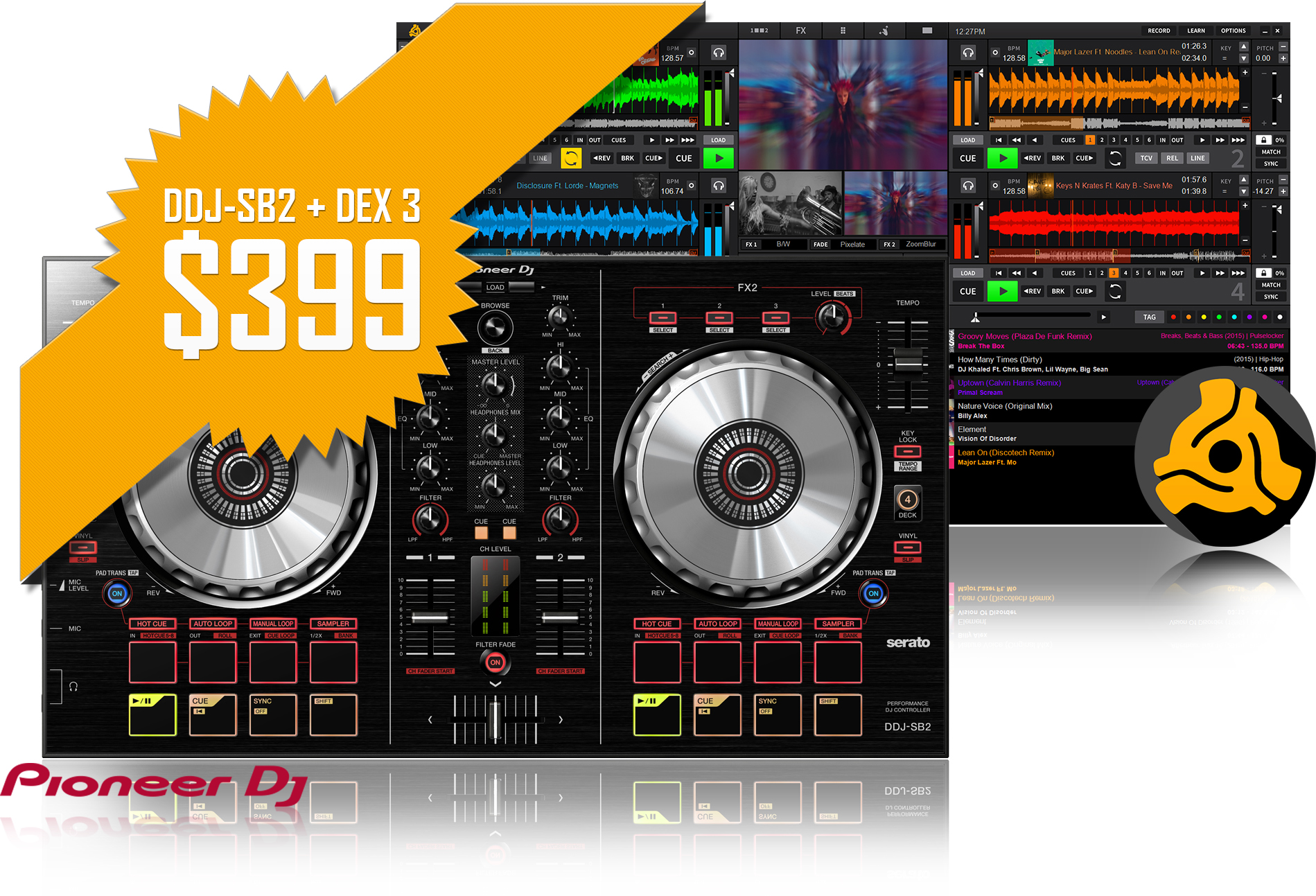 Pioneer DDJ-SB2 with DEX 3 Bundle