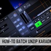 How-to batch unzip karaoke files
