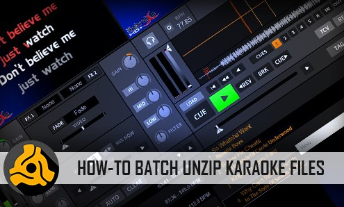 How-to batch unzip karaoke files
