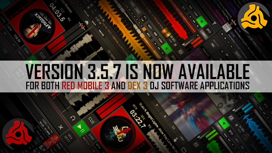 DEX and RED Mobile 3.5.7 upgrade banner