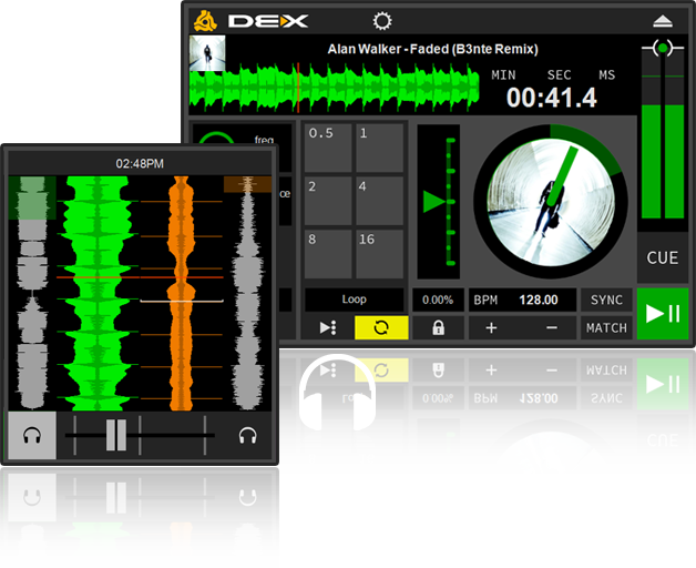 DEX 3 LE transport and mixer controls
