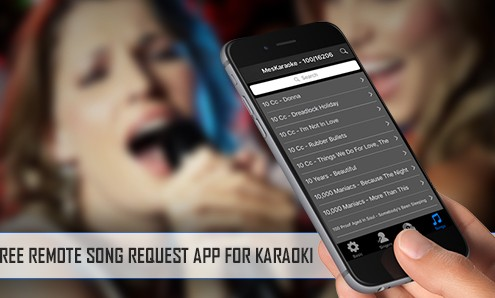 Karaoquest remote song request app cover image