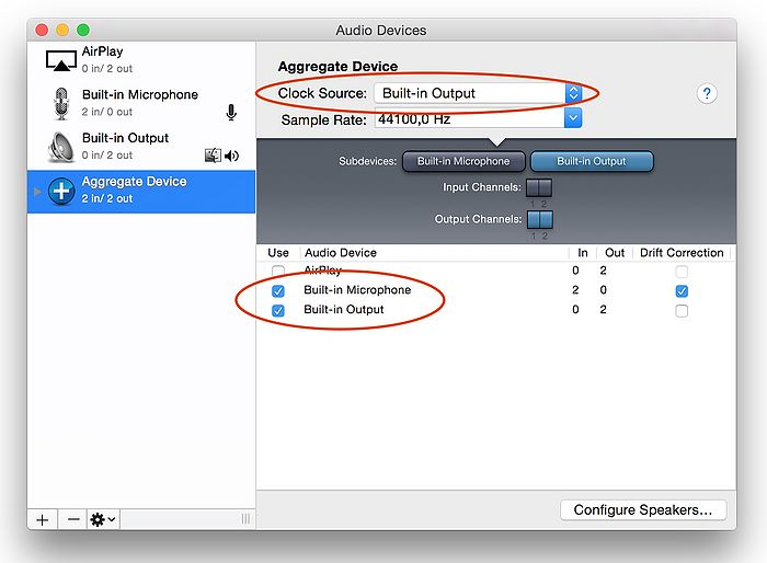 Creating an aggregate device mac step 4