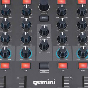 Gemini Slate 4 DJ Controller mixer section