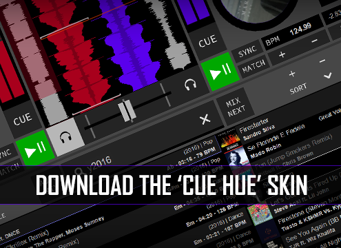 Download CUE HUE Skin for DJ Software