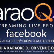 karaoq live stream on facebook