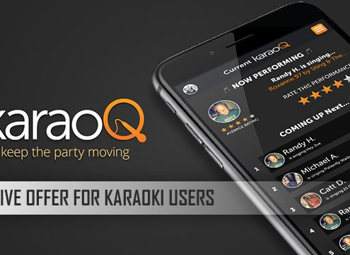 Exclusive discount on karaoQ for Karaoki users