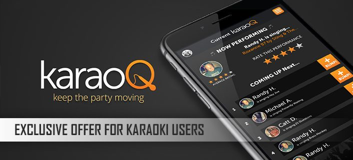 Exclusive discount on karaoQ for Karaoki users