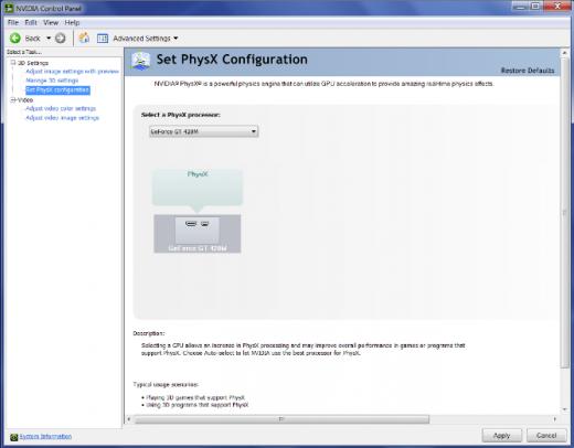set PhysX configuration for DEX 3