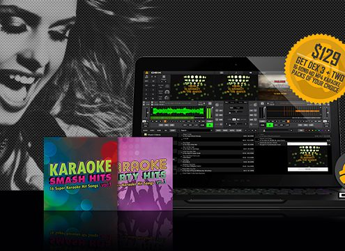 DEX 3 + Two 16-song karaoke download packs