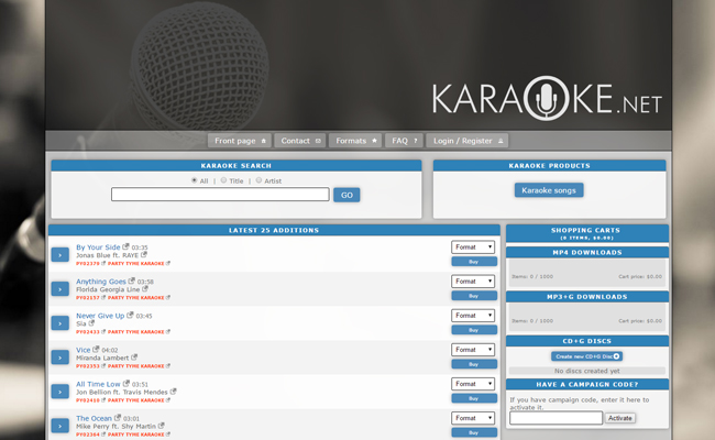 Karaoke.net Download Store
