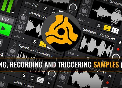 Using the sample decks in DEX 3 top DJ mixing software