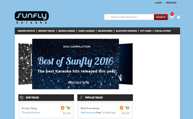 Sunfly USA Karaoke Download Store