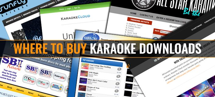 Where to buy karaoke downloads from the USA