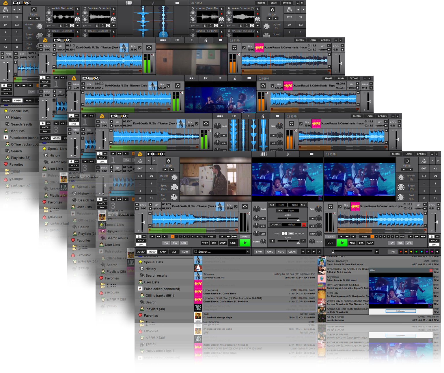 DJ And Video Mixing Software The Many Faces DEX 3 8