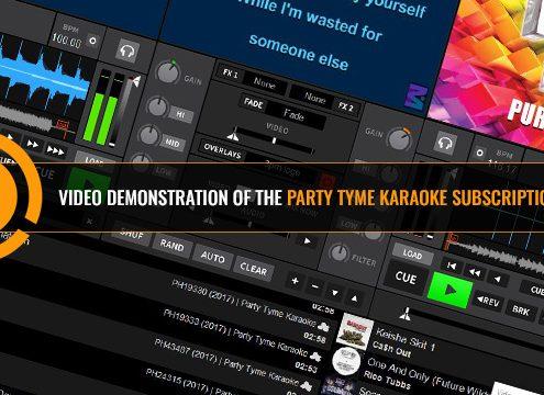 Party Tyme Karaoke Subscription Demonstration