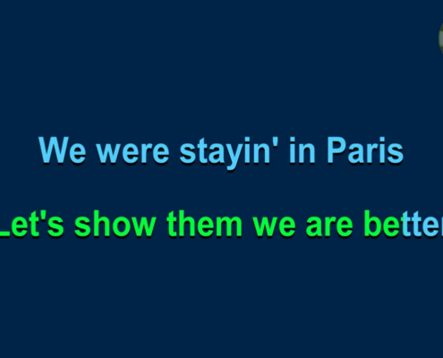 Party Tyme karaoke on-screen lyrics