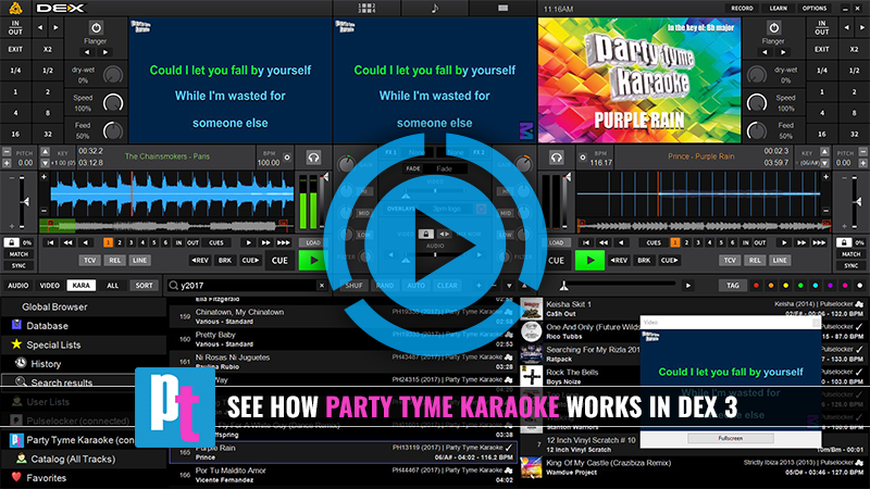 Party Tyme Karaoke With DEX 3 Demonstration