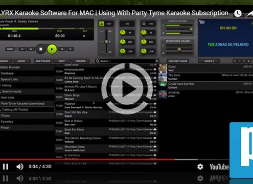 LYRX for MAC with Party Tyme karaoke subscription