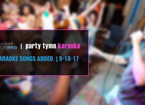 Karaoke Cloud Pro and Party Tyme Karaoke subscription update 9-18-17
