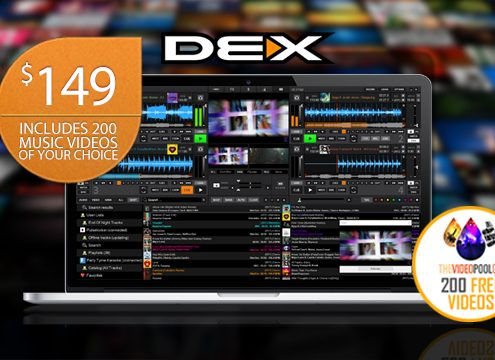Get 200 free music video downloads with DEX 3 purchase