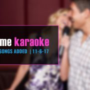 New Party Tyme Karaoke Subscription Songs 11-6
