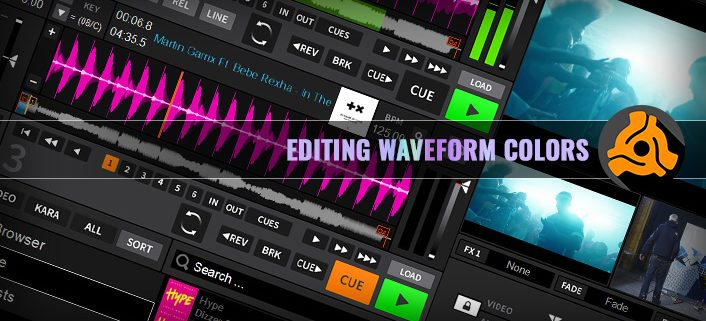How to edit DEX 3 Waveform colors