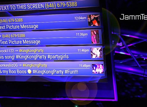 Jammtext interactive DJ software