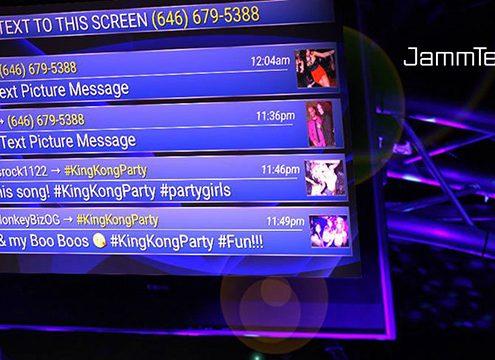 Jammtext interactive DJ software