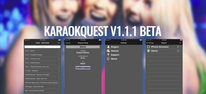 KaraoQuest Version 1.1.1 beta