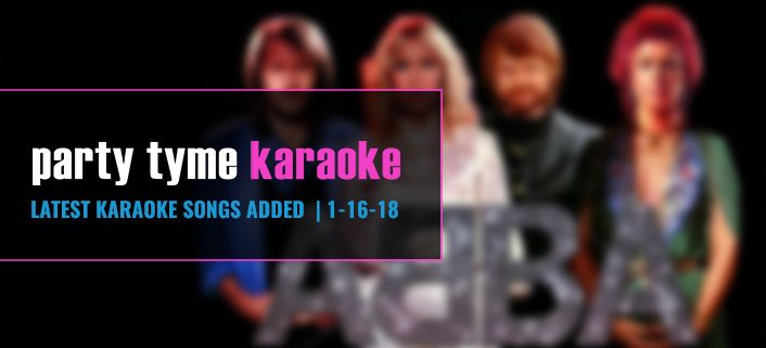 Party Tyme Karaoke Subscription Update with ABBA 1-16-18