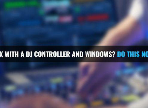 Optimize Windows for DJ controller