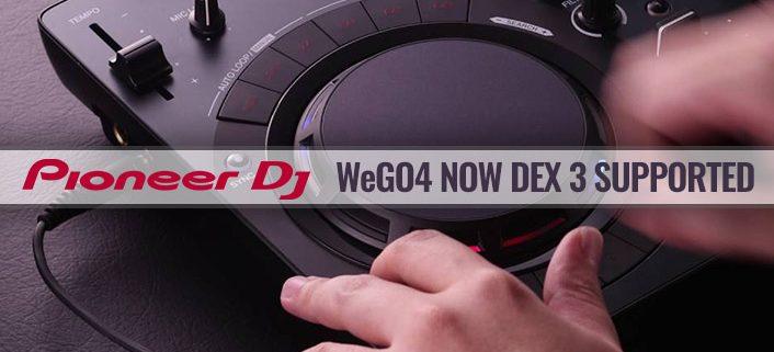 Pioneer DDJ-WeGo4 DJ controller now DEX 3 supported