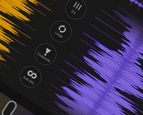 DJ App waveforms