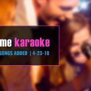 Karaoke Subscription update 4-23-18